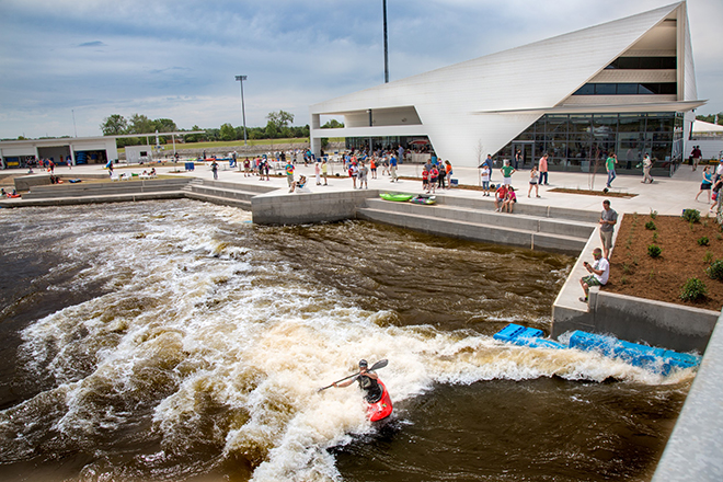 Kayak in the Riversport Rapids