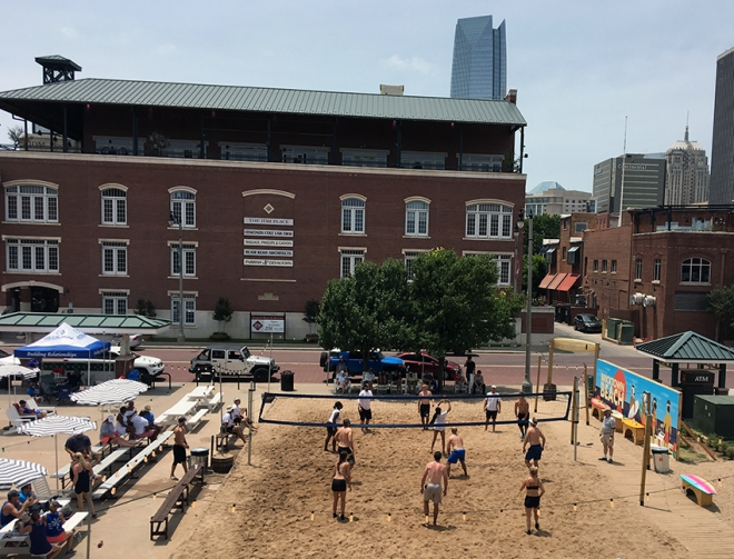 Bricktown Beach [photo credit: Downtown OKC]