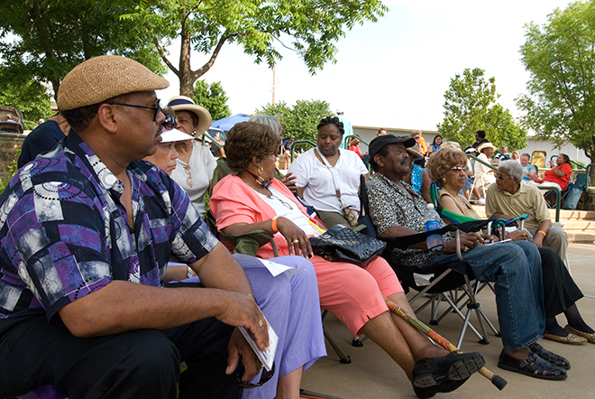 Crowd at Charlie Christian Jazz Festival