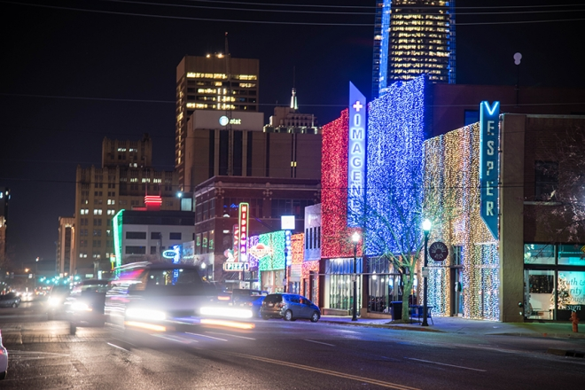 Christmas Lights in Automobile Alley