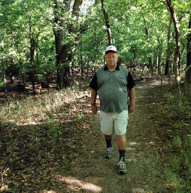 Man Hiking at Martin Park Nature Center