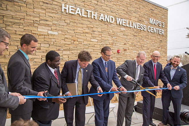 MAPS 3 Health and Wellness Center ribbon cutting