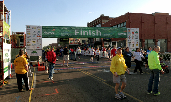 Memorial Marathon Finish Line