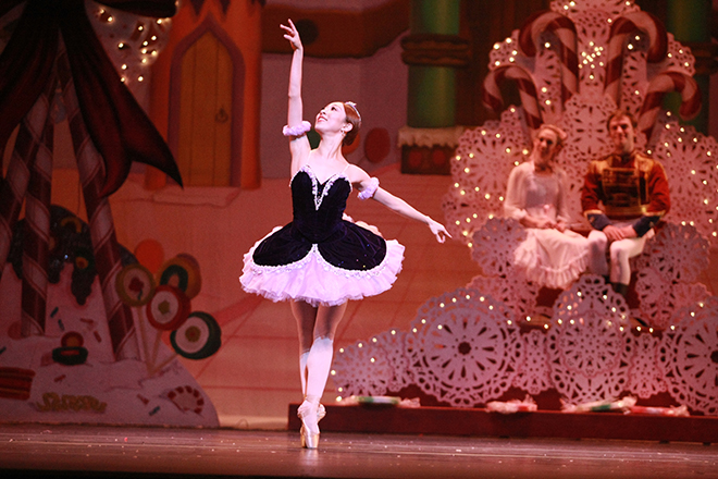 OKCB dancer DaYoung Jung as Sugar Plum Fairy for The Nutcracker photo by Rocky Chen