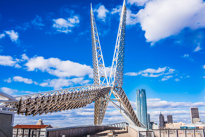 OKC Skydance Bridge and Skyline