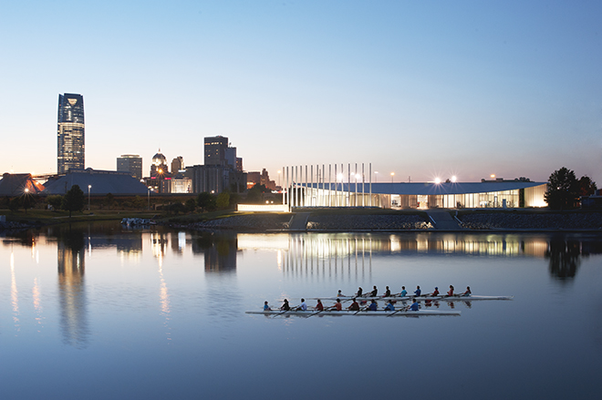 Oklahoma River and Skyline photo by John Jernigan