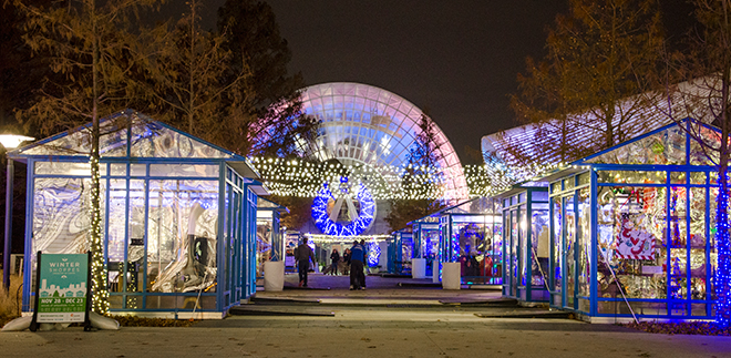 Myriad Gardens pop-up Winter Shoppes